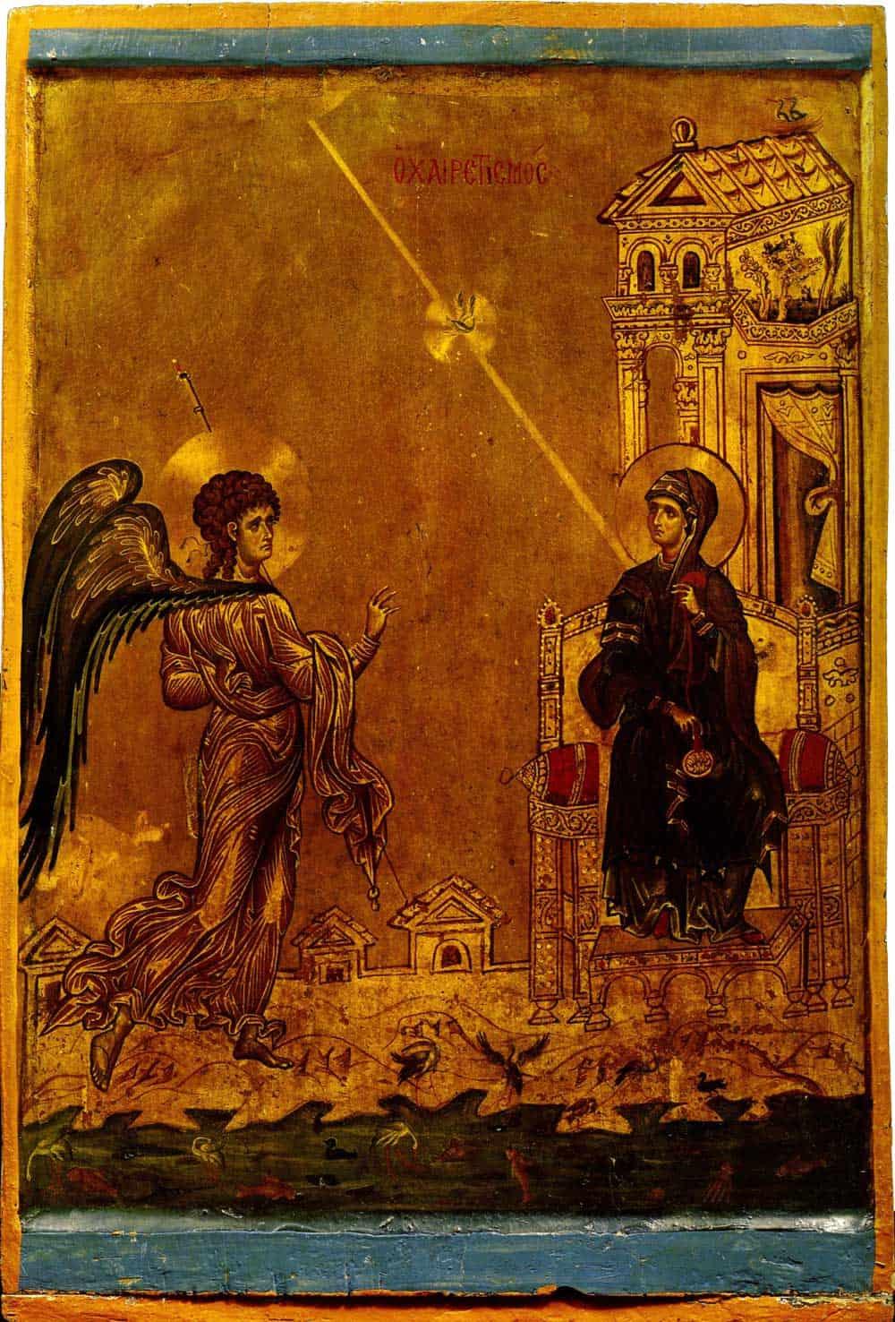 «Благовещение» конец XII века. Монастырь Святой Екатерины на горе Синай