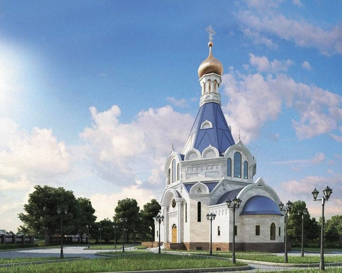 Проект храма Всех Святых в Страсбурге и Представительства Московского Патриархата при Совете Европы