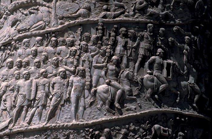 Римские легионеры. Рельеф на колонне Траяна в Риме