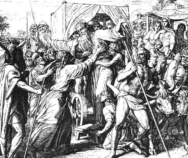 Юлиус Шнор фон Каросфельд. Переселение Иакова с семейством в Египет. 1860 г.