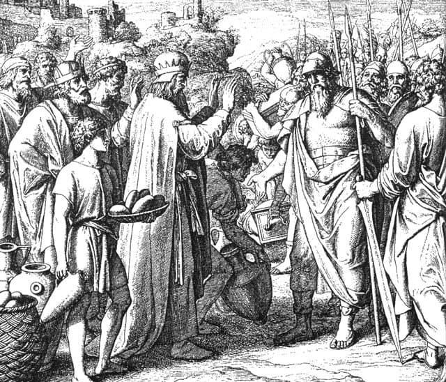 Юлиус Шнор фон Каросфельд. Мелхиседек благословляет Авраама. 1860 г.