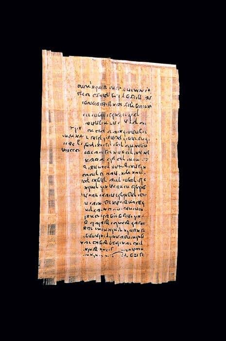 Nash Papyrus, один из древнейших <br>фрагментов текста Ветхого Завета. <br>Найден в Египте, I век до Р.Х. <br>Фото GAMMA/EAST NEWS