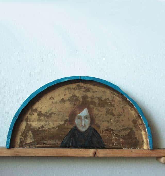 Портрет Николая Гоголя. 1998 г. Дерево, золото, масло