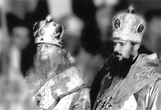Будущий Патриарх Алексий II, пока еще митрополит Таллинский и Эстонский, и митрополит Иосиф. Москва. 70-е годы
