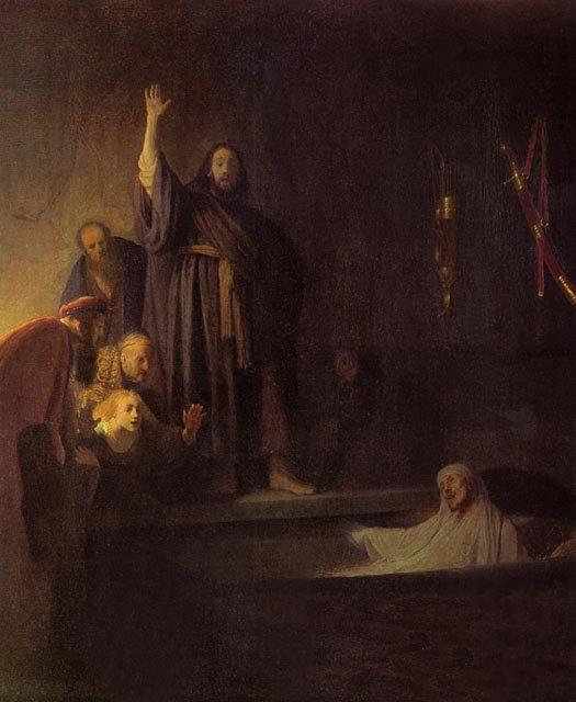 Воскрешение Лазаря. Рембрандт. Ок. 1630