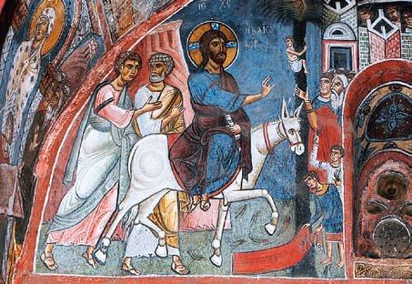 Вход Господень в Иерусалим. Роспись храма Панагия «Форвиотисса» (Врачевательница). 1105 г. Кипр