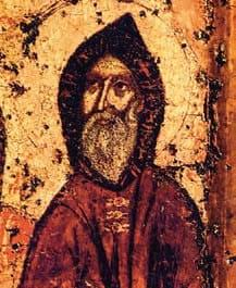 Преподобный Антоний Печерский. Фрагмент Свенской иконы Божией Матери