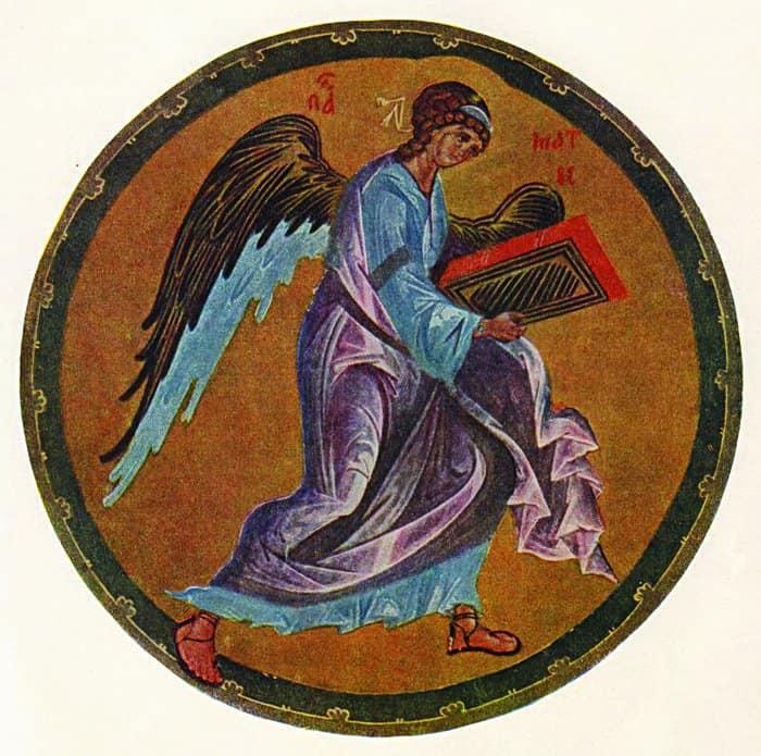 Ангел. Рублев. XIV в.