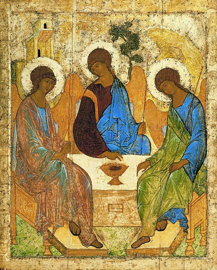 Троица. Икона Андрея Рублева. 1425