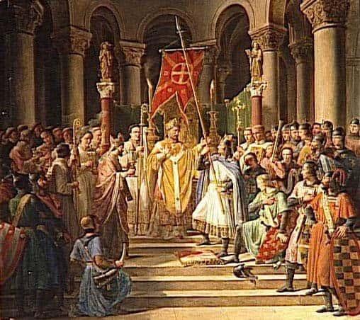 Папские легаты провозглашают анафему Патриарху Константинополя