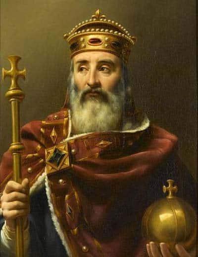 Карл Великий, первый варварский король, посягнувший на право называться Императором и потеснить тем самым Византию