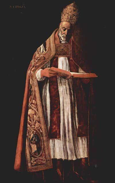 Папа Григорий Великий (540-604 годы) почитается Восточной Церковью как хранитель православной веры и ее канонов. Григорианские песнопения названы по его имени.