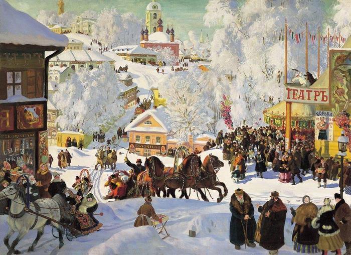 Масленица Бориса Кустодиева