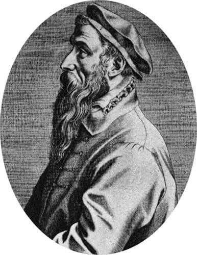 Портрет Брейгеля работы Доминика Лампсония. 1572