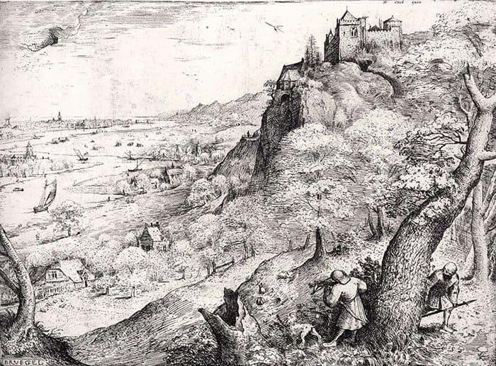 Охота на зайца. Гравюра. 1560