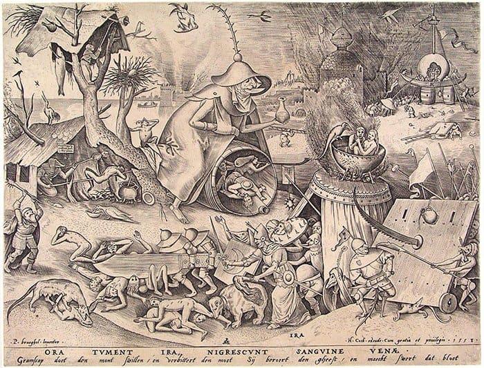 Гнев. Гравюра. 1557