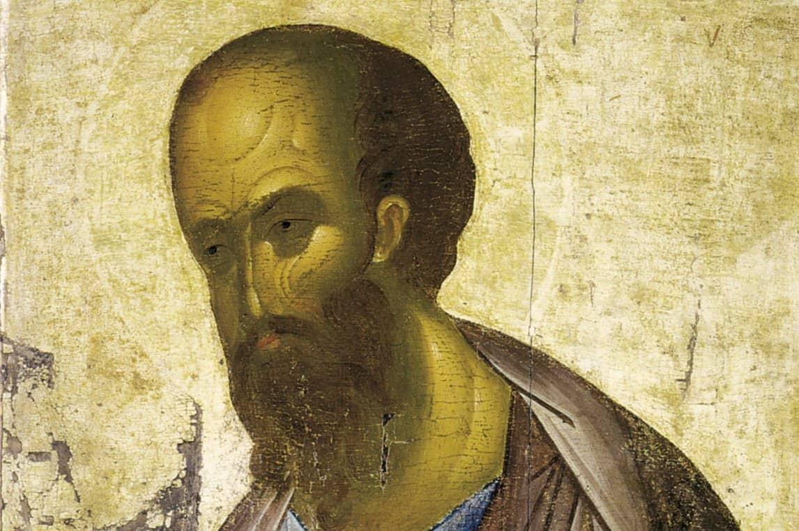 Апостол Павел. Икона. Начало XV века. Третьяковская Галерея