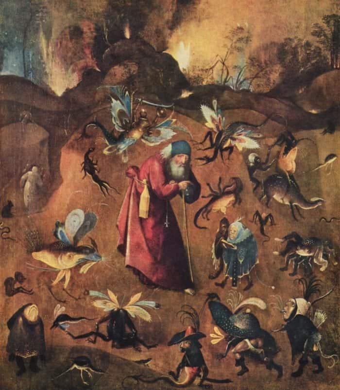 Иероним Босх. Искушение святого Антония
