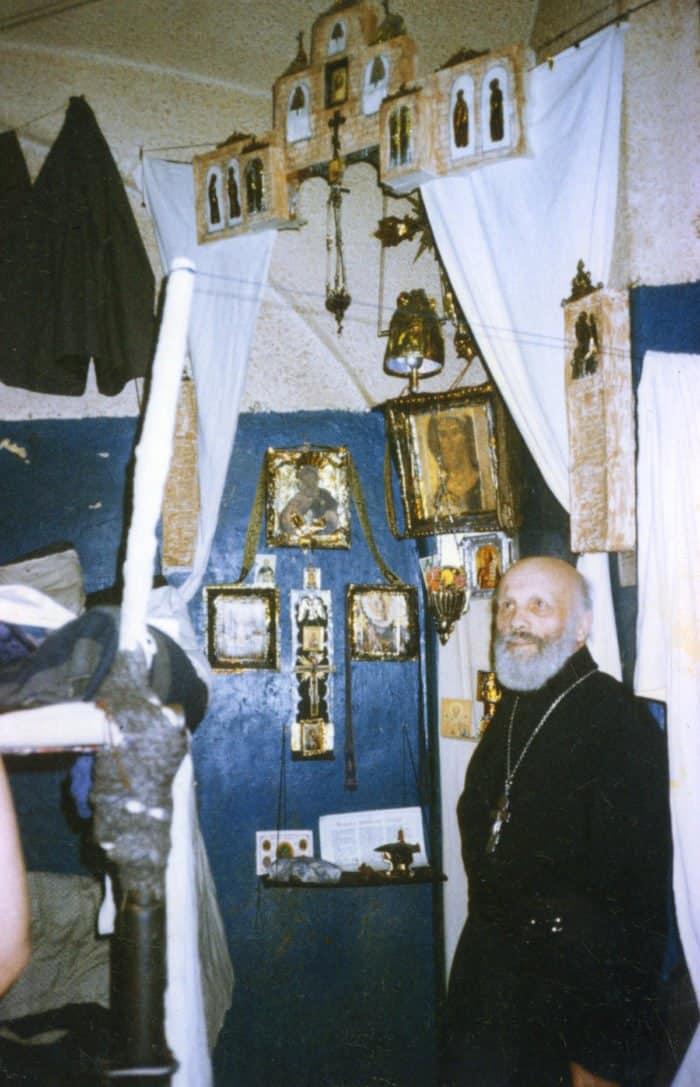 Отец Глеб в одной из камер Бутырской тюрьмы