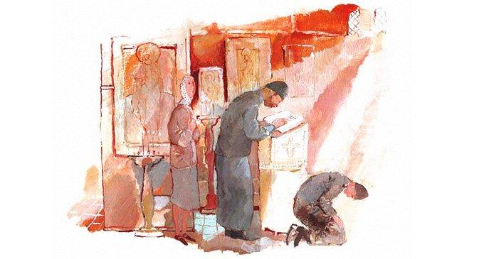 Атеист. Рисунок Натальи Кондратовой