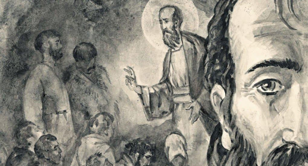 Рисунок Артема Безменова. Апостол Павел