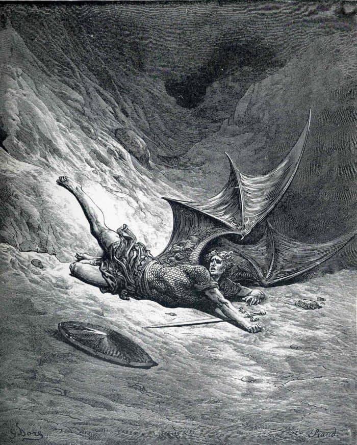 Густав Доре. Павший сатана