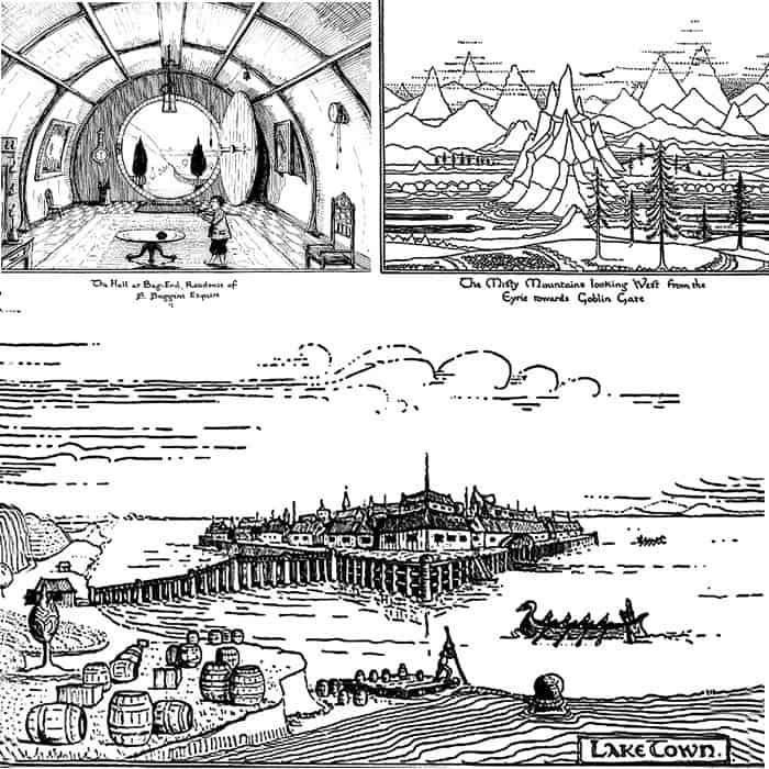 """Иллюстрации Дж. Р. Р. Толкина к книге """"Хоббит"""""""