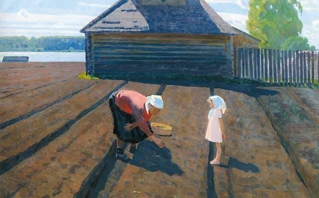 Теплая земля на картинах Валентина Сидорова