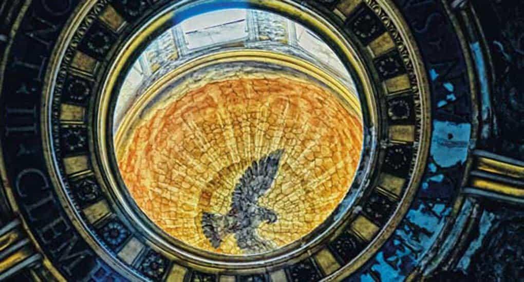 Роспись в куполе собора святого Петра, Ватикан. Фотограф Duane W. Moore (www.flickr.com/photos/duanemoore)