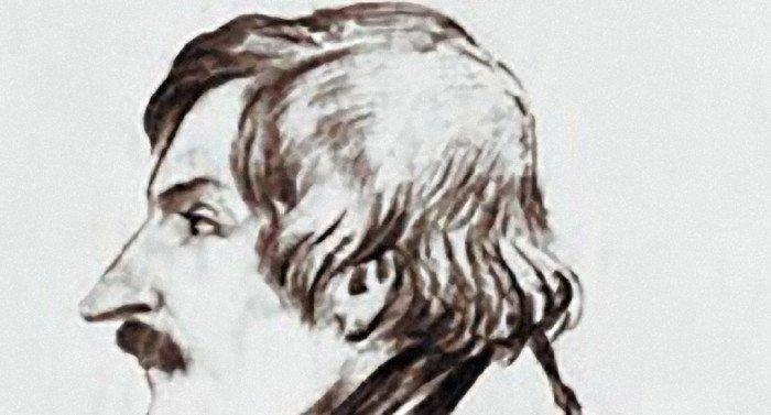 Николай Гоголь. Рисунок Дмитрия Мамонова. Карандаш, бумага (1840-у гг.)