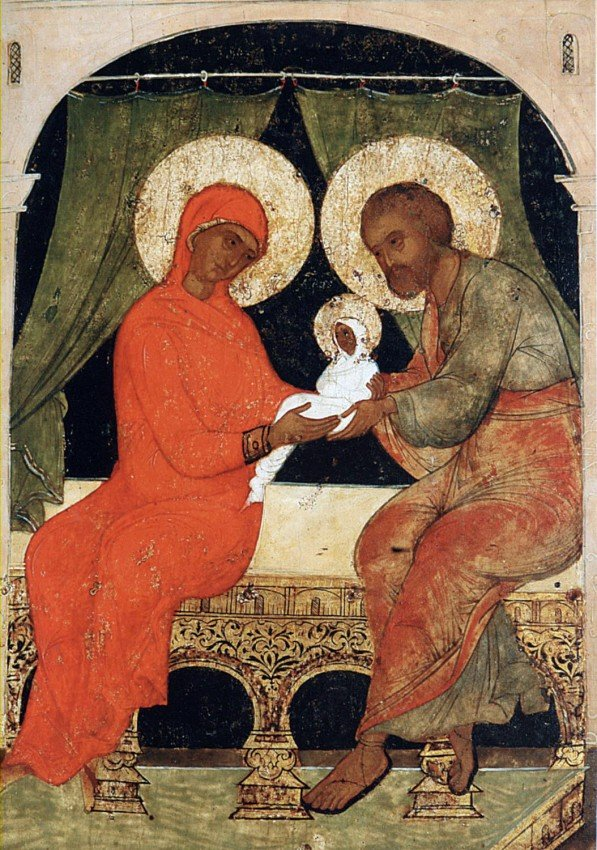 Ласкание Богородицы. Праведные Иоаким и Анна