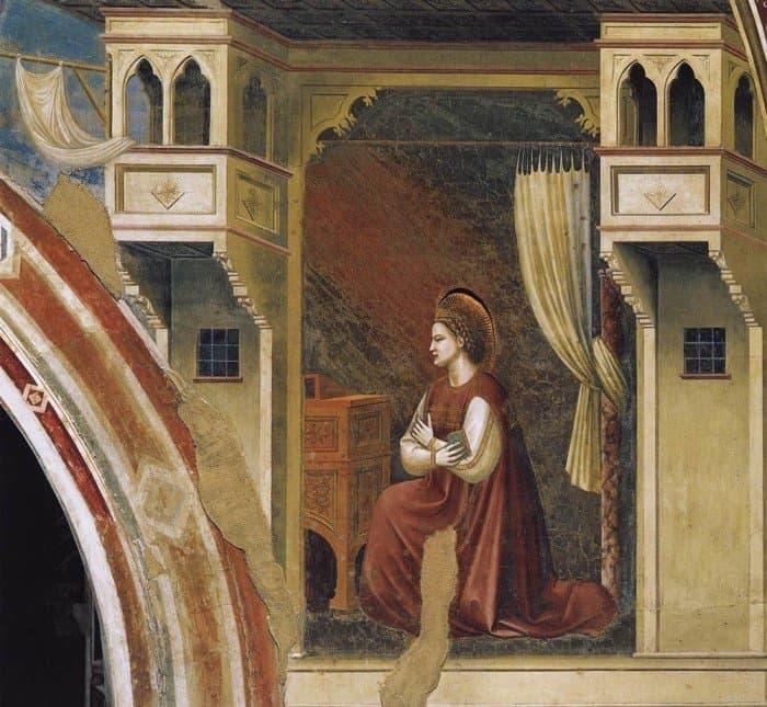 "Фрагмент фрески Джотто ""Благовещение"""