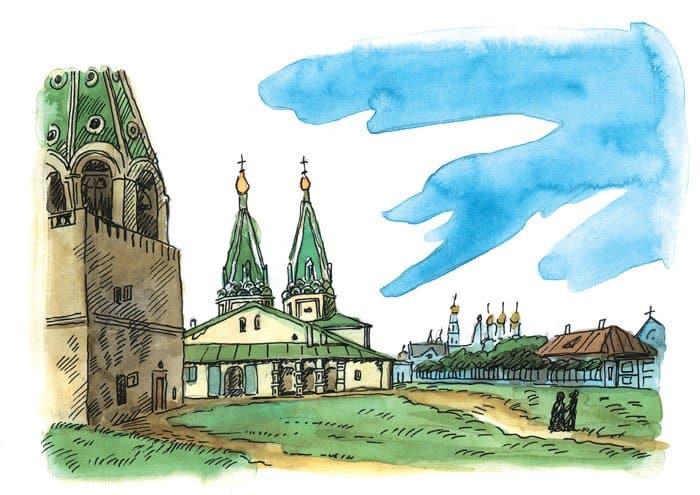 Свято–Алексеевский монастырь, на месте которого позднее и был построен храм Христа Спасителя