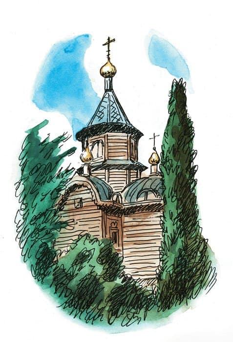 деревянный шатровый храм-часовня во имя иконы Божией Матери «Державная»