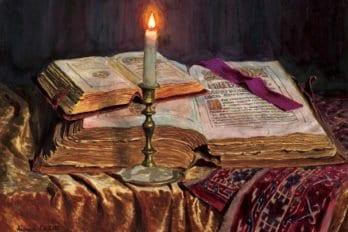 Натюрморт со свечой и книгами, 2002