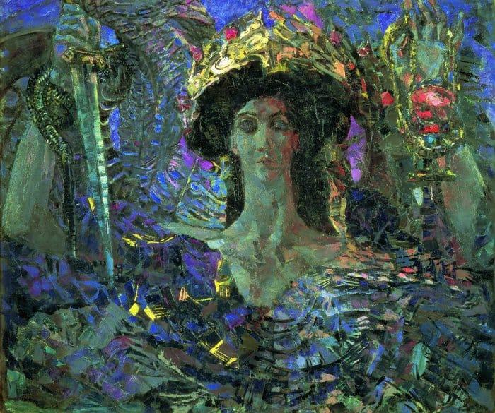 Шестикрылый Серафим. 1904 Картина написана после духовного перелома Врубеля. Демоническая пелена спадает, художник обретает вещее зрение.
