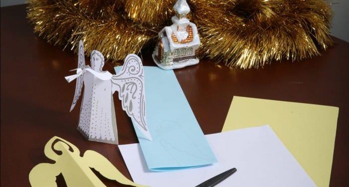 Трубящий ангел из бумаги