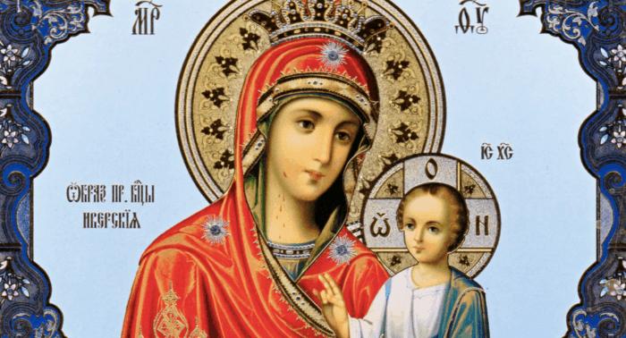 Иверская икона Богоматери. Почитание в России