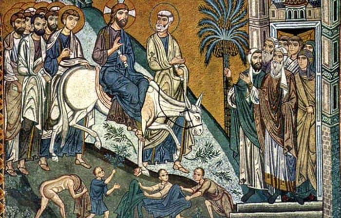 Икона Вход Господень в Иерусалим
