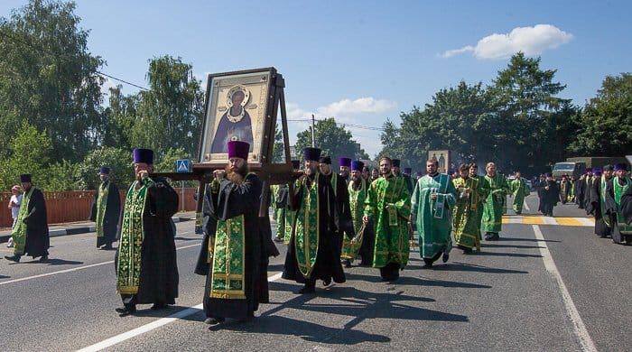 крестный ход, Сергий Радонежский