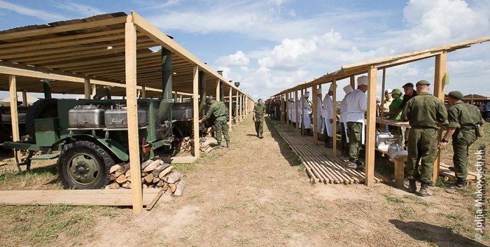 паломники, лагерь