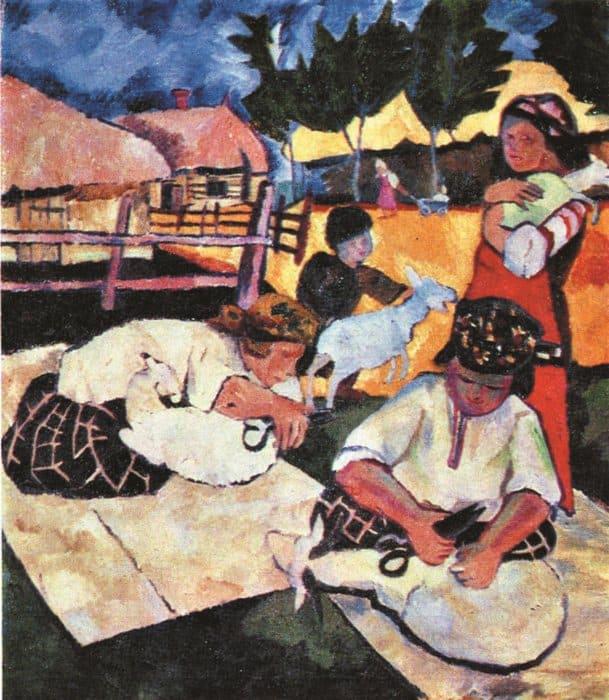Стрижка овец. 1908–1909