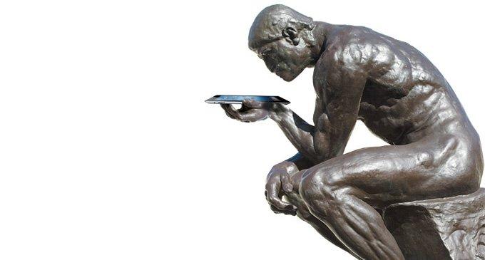 Человек в планшете
