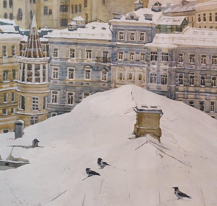 Тургеневская библиотека,  вид из окна Академии. Без указания авторства