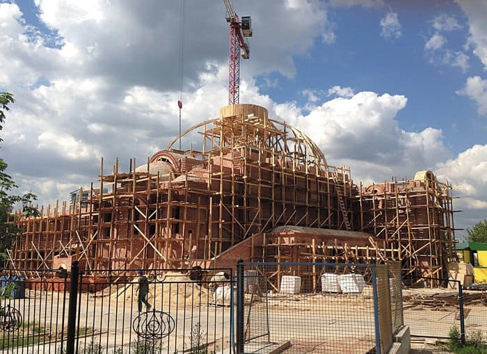 Строящийся храм святого благоверного князя Александра Невского при МГИМО