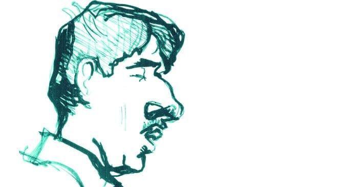 Корней Чуковский. Рисунок Владимира Маяковского