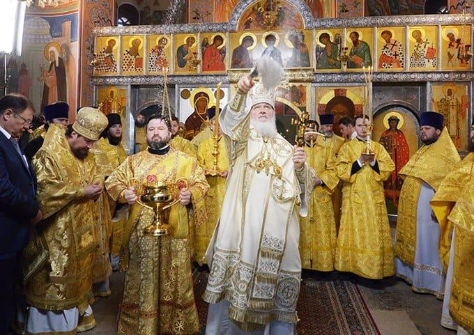 Патриарх Кирилл освятил храм в честь первого Киевского митрополита, переехавшего в Москву