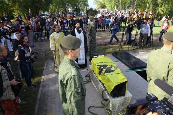 На Бородинском поле похоронили неизвестного русского героя 1812 года