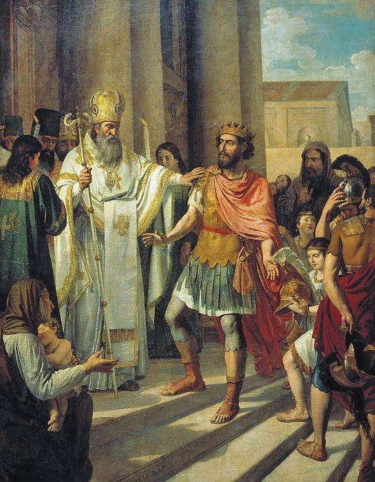 Крещение великого князя Владимира. А.И. Иванов, 1829