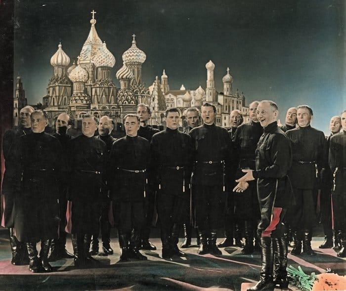 Хор Жарова на съемках фильма «Не каждый день воскресенье». 1960–1962